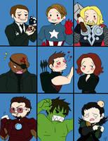 The Avengers Bunch by PredieNerdie