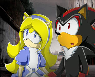 Shadow And Maria ( Sonic X ) by thesweet2013