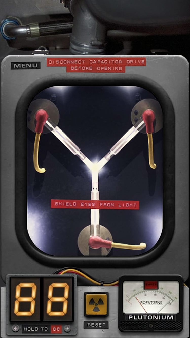 Iphone 6 Lockscreen Flux Capacitor By Airglow On Deviantart
