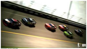 NASCAR - Drafting Battle by vanheart