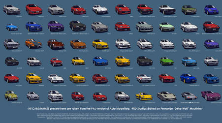 Auto Modellista, all cars poster.