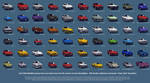 Auto Modellista, all cars poster. by vanheart