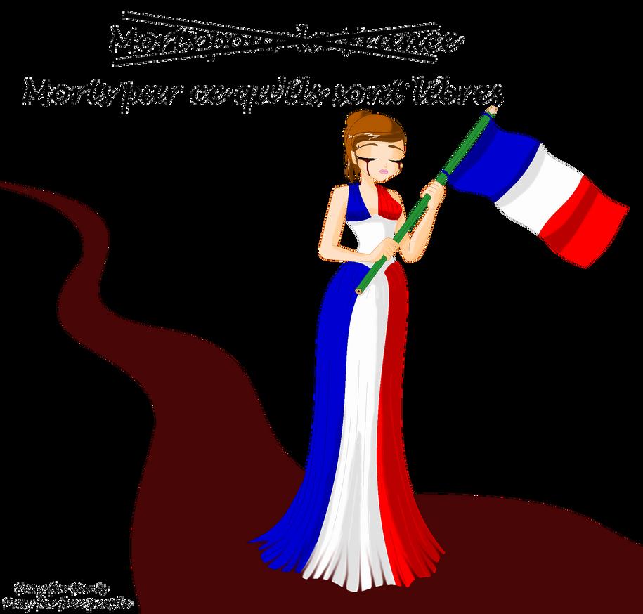 Pray for Paris by Beatrice-Dragon-Team