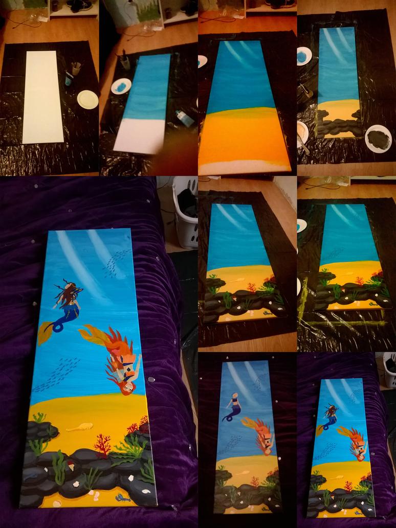 Painting steps Mermaids by Beatrice-Dragon-Team