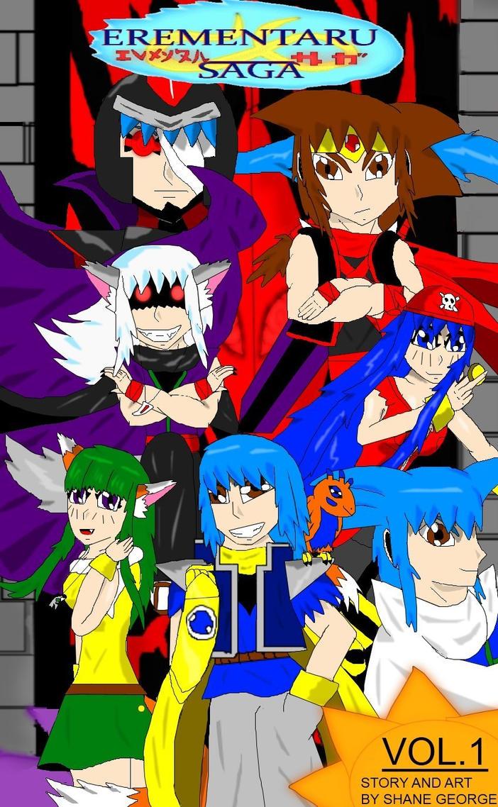Erementaru Saga Vol 1 Front Cover by Shane-zero