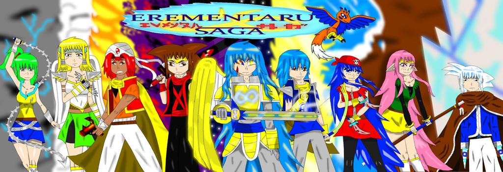 erementaru saga 2 year anniversary promo by Shane-zero