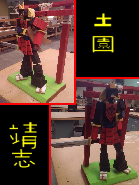 my samurai sculpture :D by Shane-zero