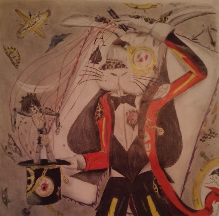 oc twisted puppeteer clockwork rabbit by Shane-zero