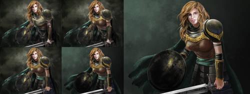Lady Elf Warrior by clerinzel