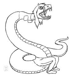 Hissy Face - Snake TF by StrangeComet