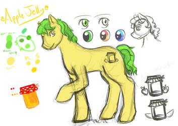 Apple Jelly - Design Sketch by StrangeComet
