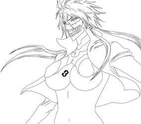 Halibel mask Lineart :: Ch.339 by Ryouto