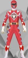 Red Mighty Morphin dino thunder ranger