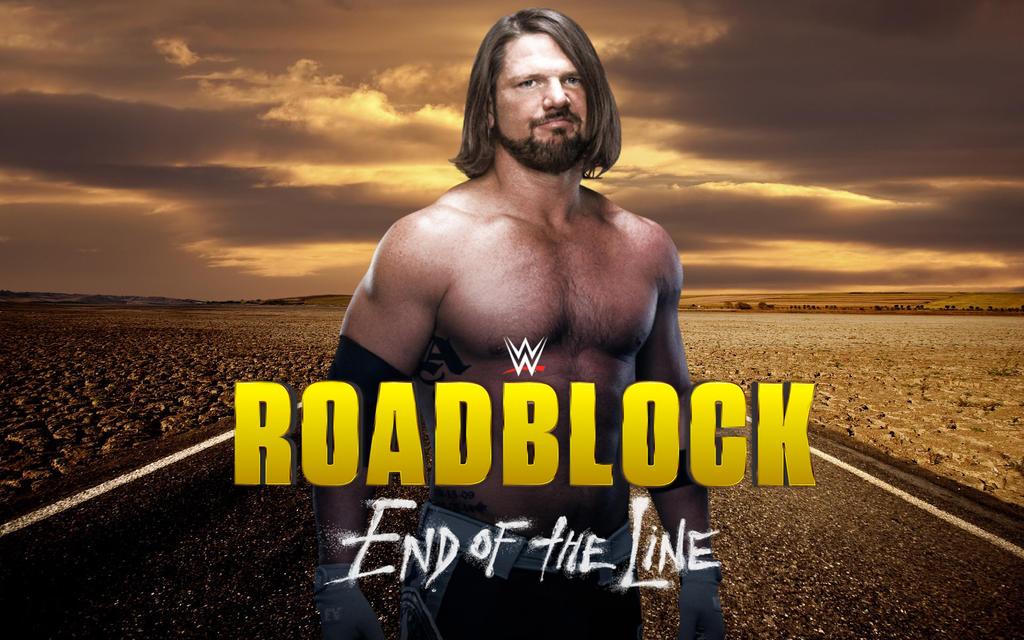 2017 wwe roadblock fan poster by 619rankin