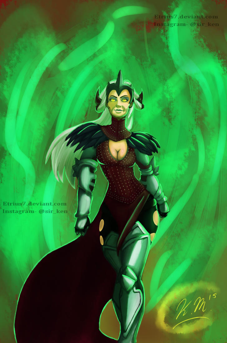 Dragon Age's Witch of the Wilds, Flemeth by Etrius7