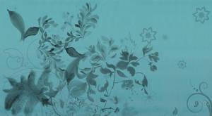 Wallpaper - Blue Floral