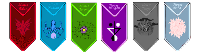 House sigils/banners by GlassEyesDesigns