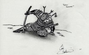 fallen samurai by Wabujin