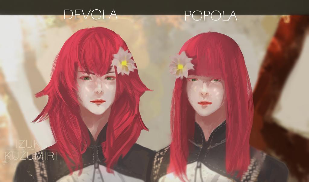 Nier:Automata :Popola And Devola by IzukiYia