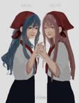 The twins Misae And Misaki by IzukiYia