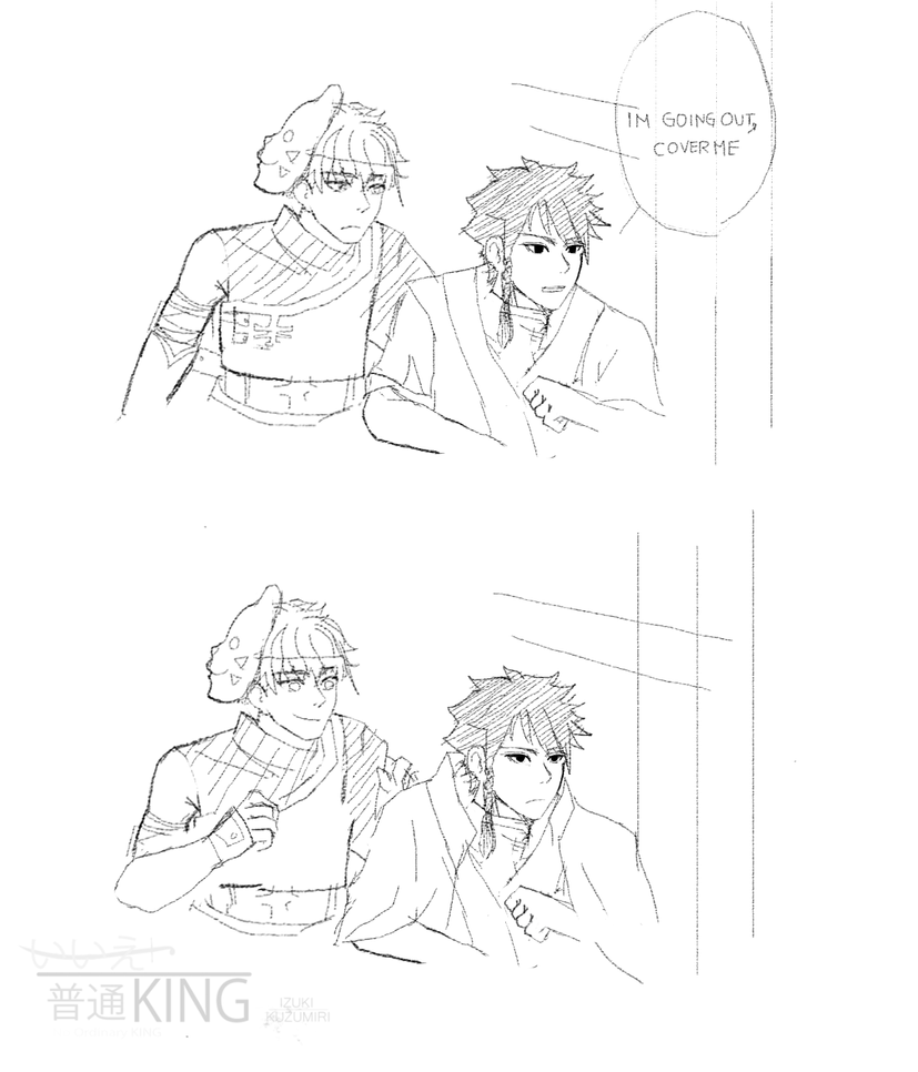 A short break: Roi and Tenzo: Cover me ! by IzukiYia