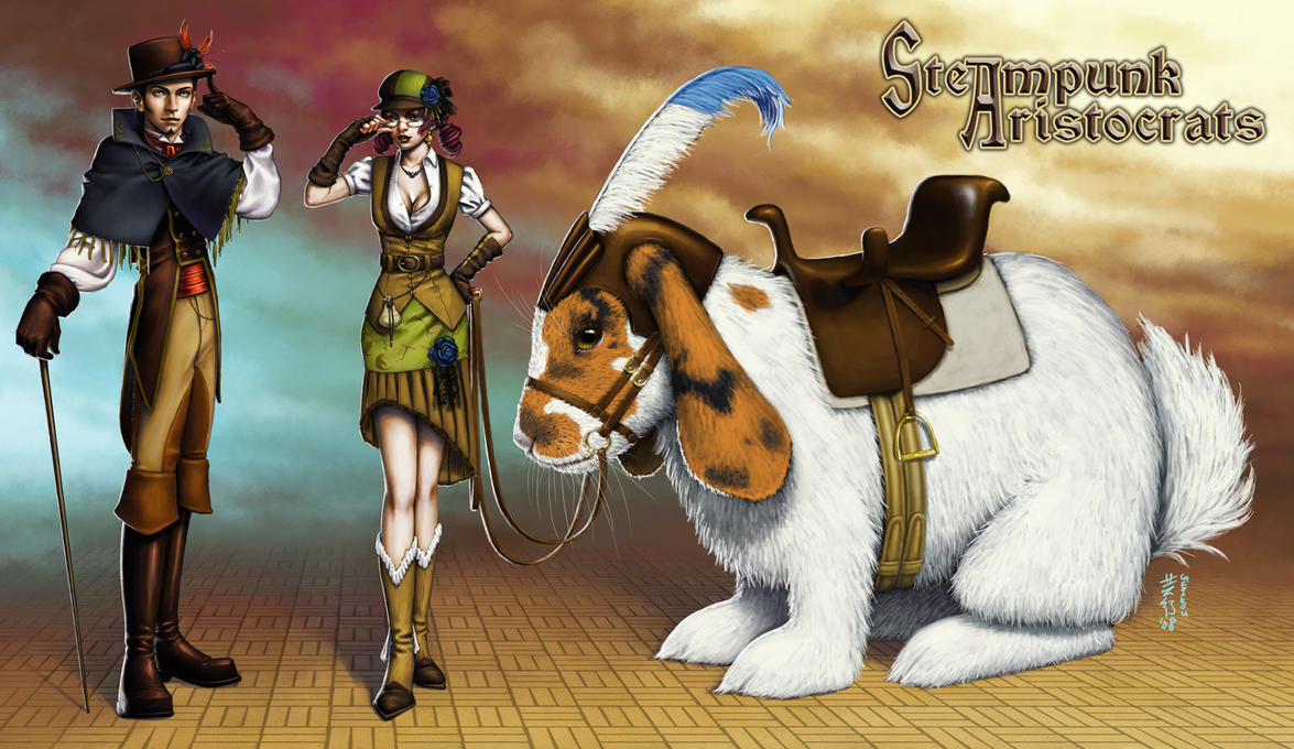 Concept: Steampunk Aristocrats by kagaminoir