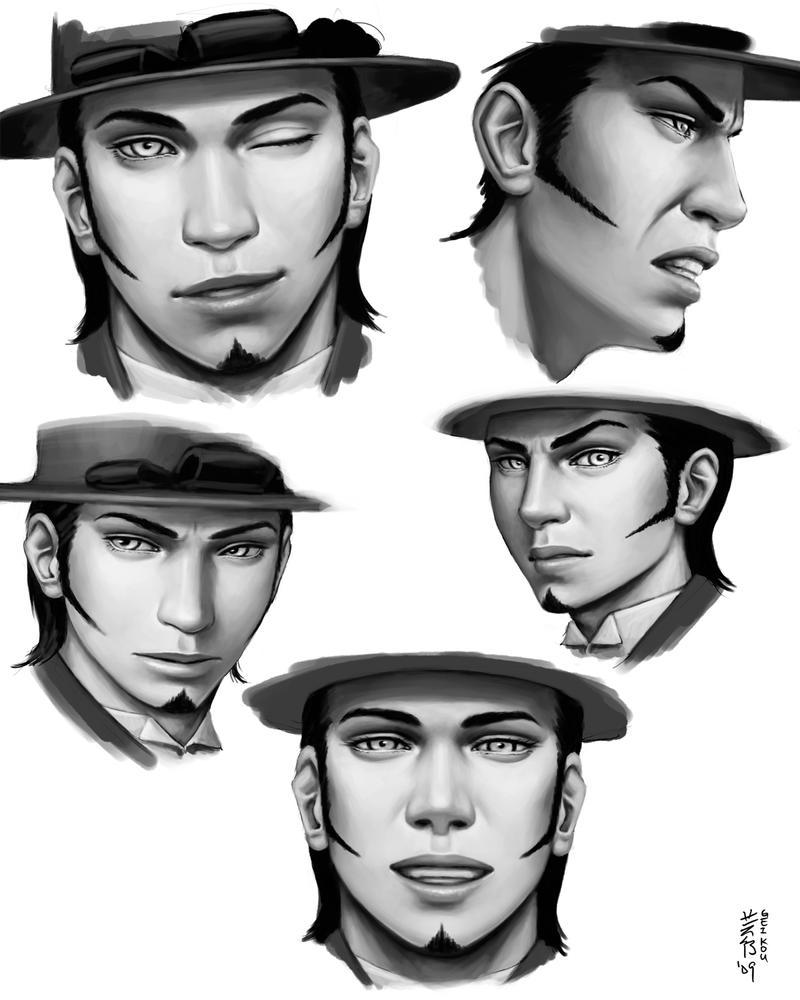 Steampunk Duke Expressions by kagaminoir