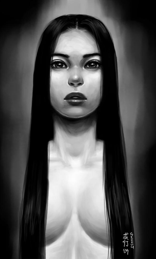 Sketch - Random Girl by kagaminoir