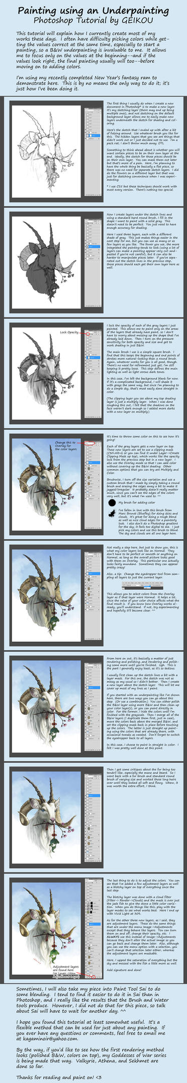 Tutorial: Using an Underpainting by kagaminoir