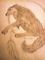 Wolf Sketch by animegirlffx