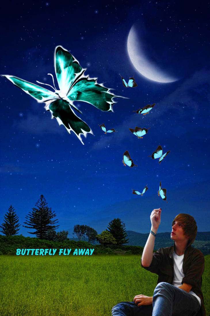 Butterfly flying away - photo#8