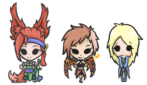 The Chibi girl trio