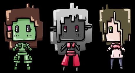 Random game-style cuties by Saragonvoid