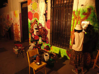Painting a wall by CaroLevitt