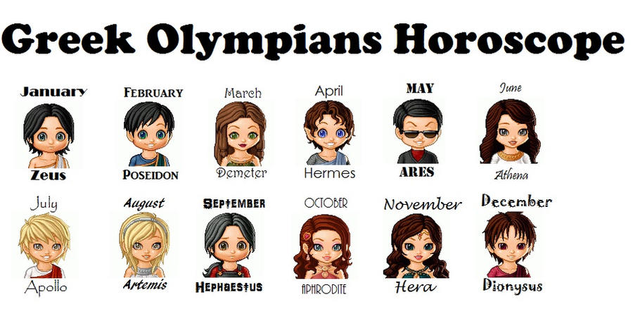 The 12 Olympians Horoscope By Beatlechica On Deviantart
