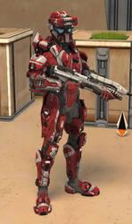 Spartan Elisabeth Finn [Halo 4] by TheMachinifilms