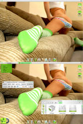 sexy green socks by lordguns