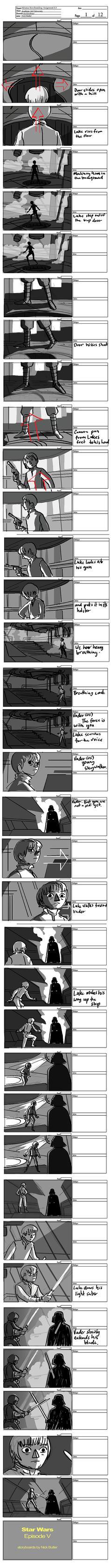 Luke vs Vader by hippybro
