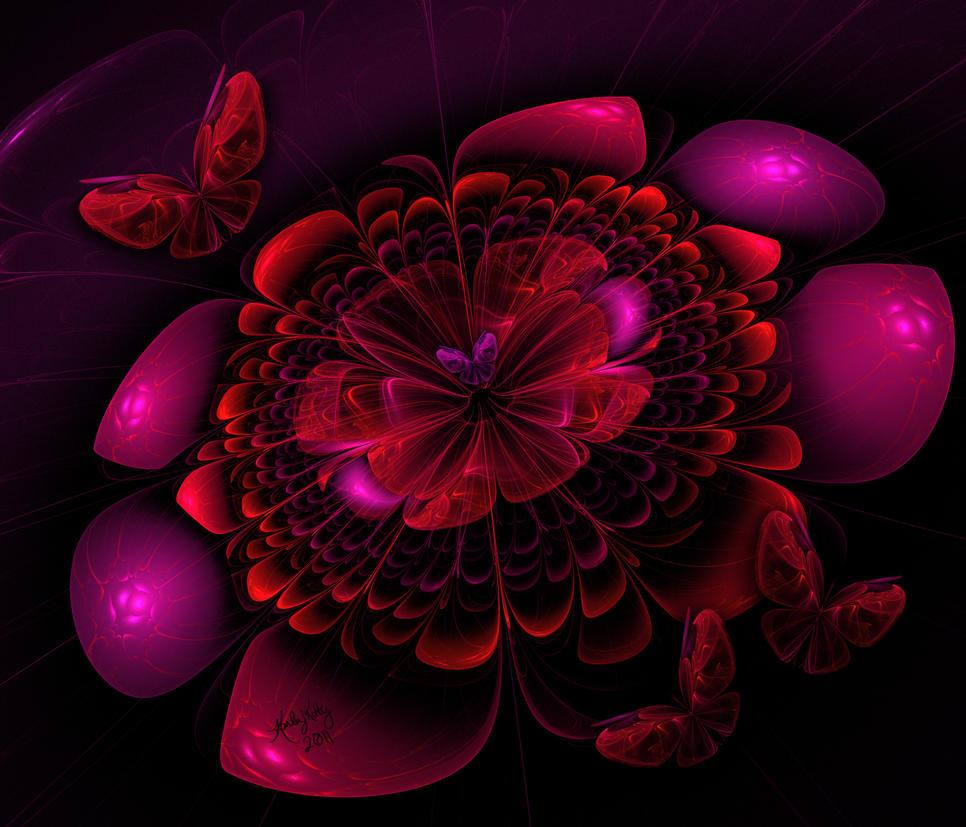 Flower Burst by karlajkitty