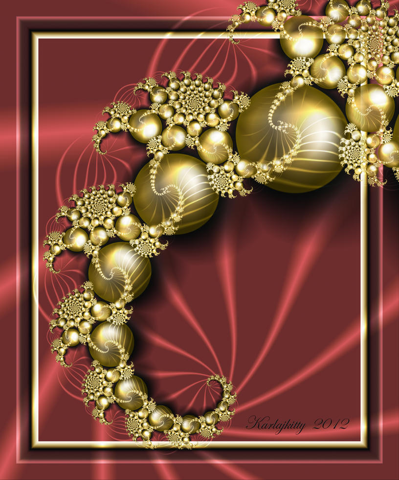 Gold Baubles by karlajkitty