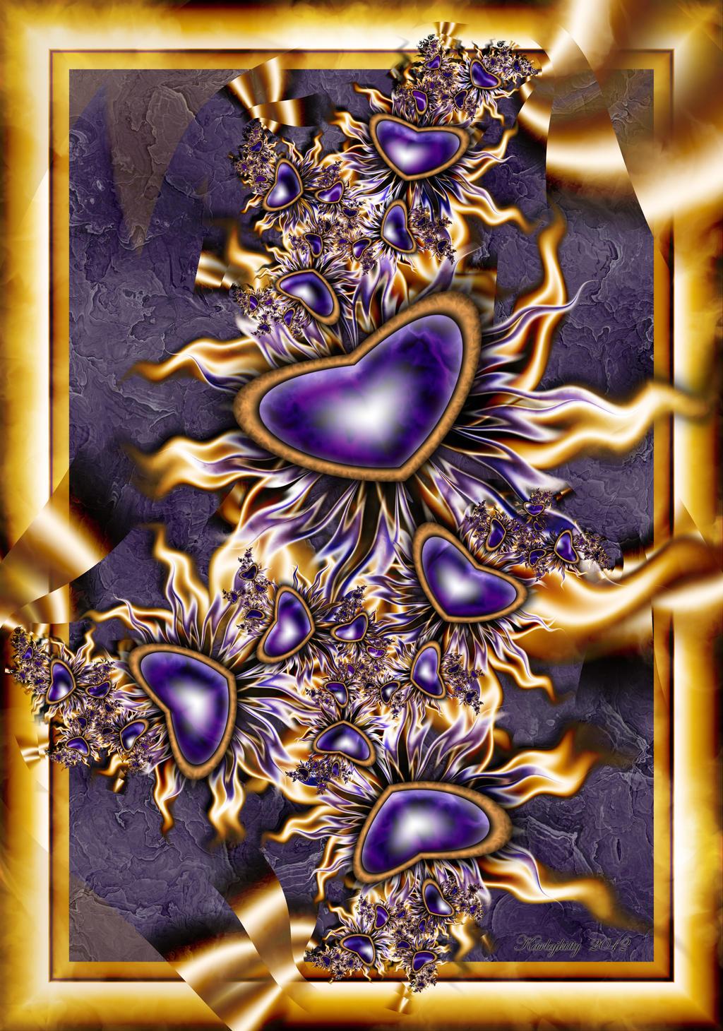 Purple Hearts by karlajkitty