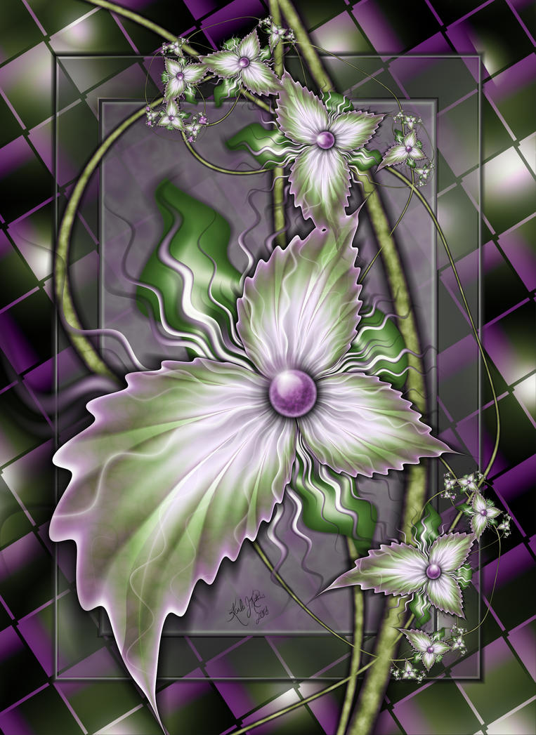 Flowers On Glass by karlajkitty