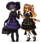 Lolita Fashion Disty Dusk and Cold Front (comm)