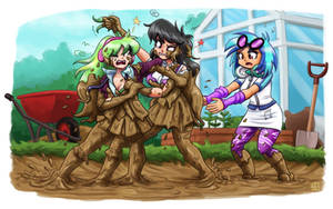 Gardening Day Gone Wrong (commission)