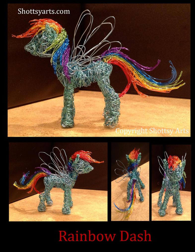 Rainbow Dash wire sculpture by shottsy85