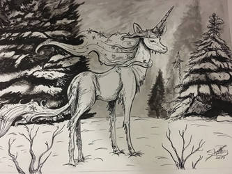 Winter unicorn