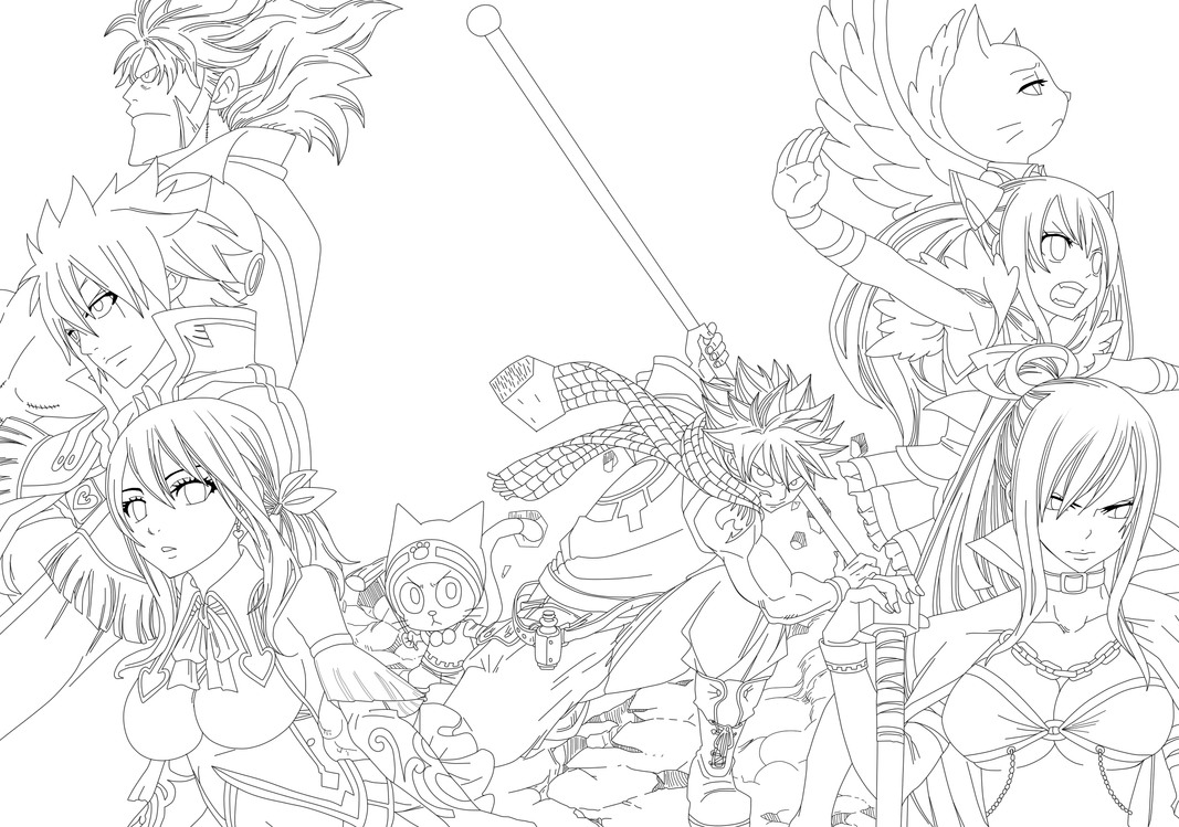 Fairy Tail Lineart By Maks72rus
