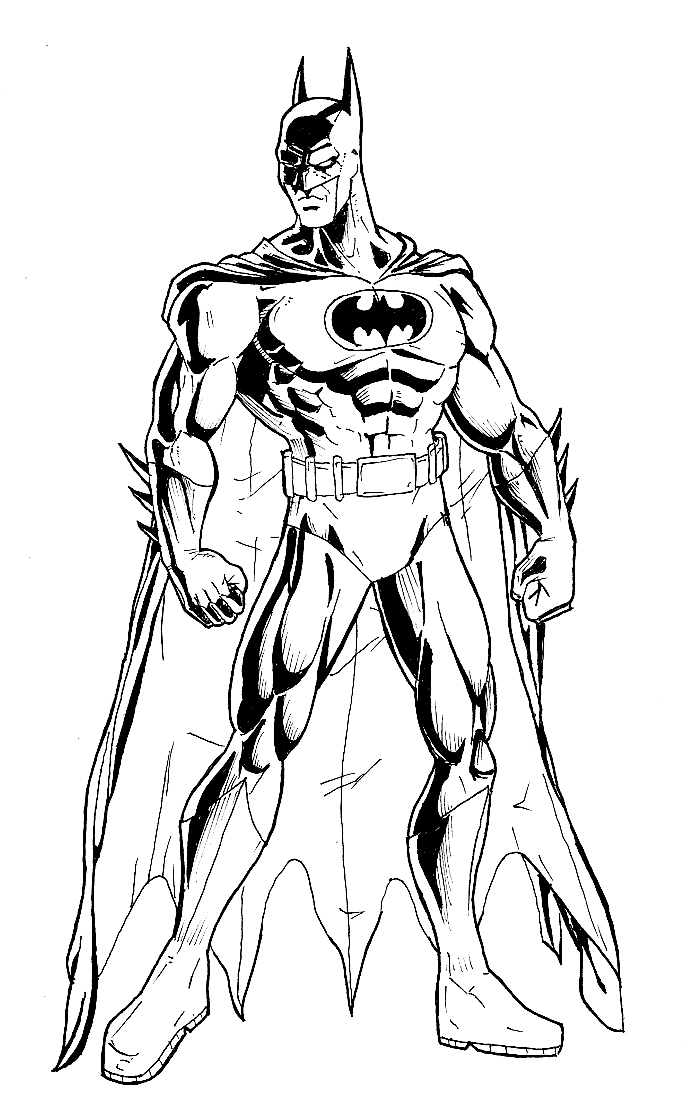 The dark knight inked by phil cho on deviantart for Dark knight coloring pages