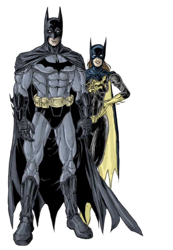 Batman and Batgirl by phil-cho on DeviantArt