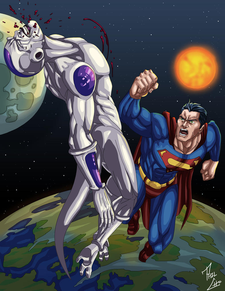 Superman vs. Frieza by phil-cho on DeviantArt